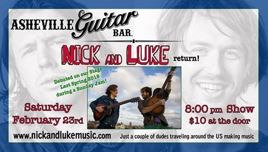 Nick and Luke - Play at Asheville Guitar Bar on Their US Tour