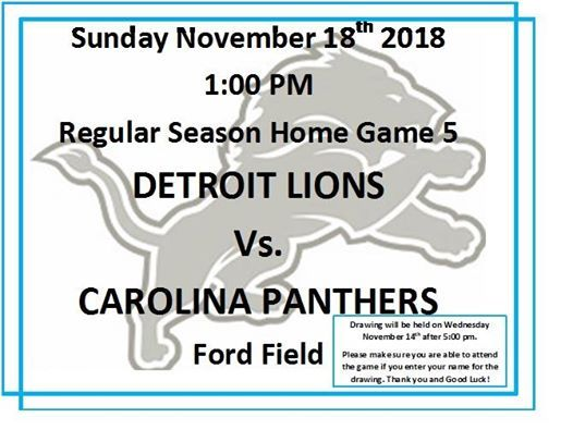 Annual Detroit Lions Ticket Giveaway