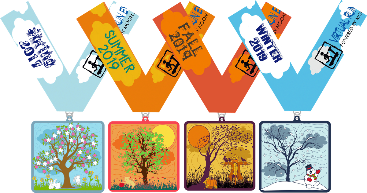 The Four Seasons Four Miles Challenge Spring Summer Autumn Winter - Peoria