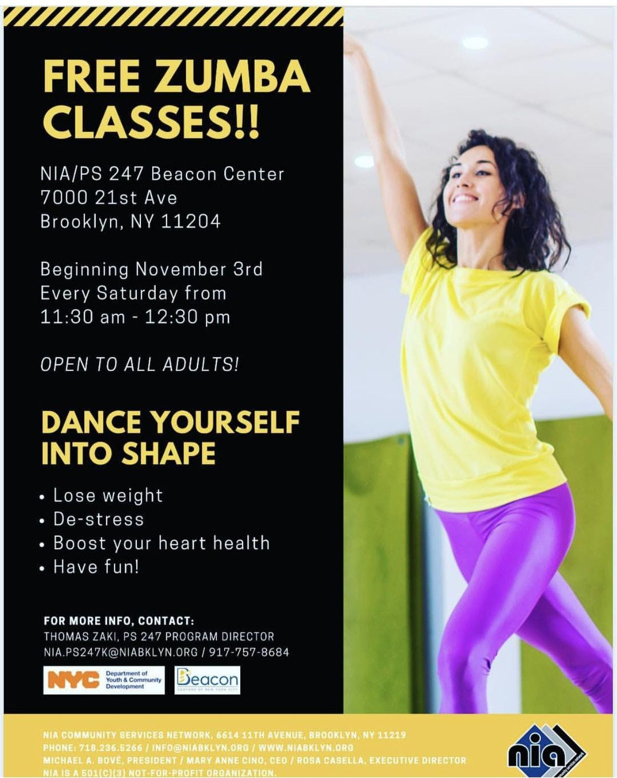 FREE Zumba Classes (NIABeacon Community Center)
