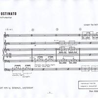 Canto Ostinato (openbare repetitie) Reprise
