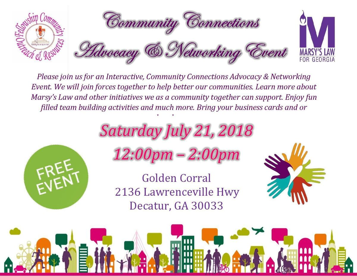 Community Connection Advocacy & Networking Event at Golden Corral ...