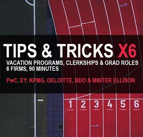 Tips & Tricks X6 with PwC EY KPMG Deloitte BDO Minter