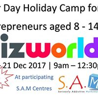 Registrations Closed Mandurah BizWorld 4-day Holiday Camp for Entrepreneurs at S.A.M Mandurah