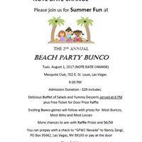 2nd Annual Beach Party Bunco