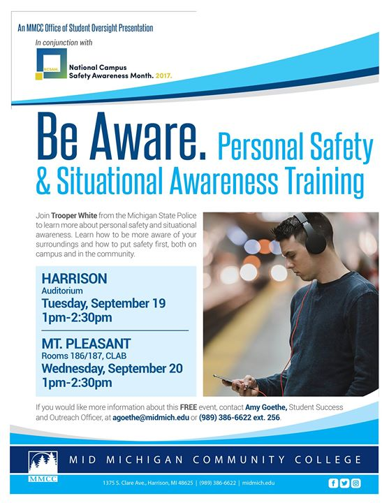 Personal Safety & Situational Awareness Training at MMCC ...