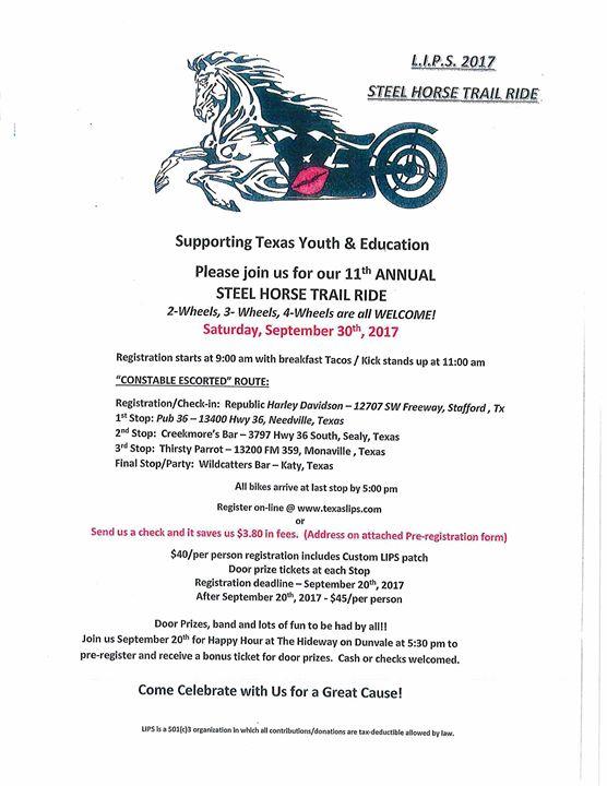 2017 LIPS Steel Horse Trail Ride