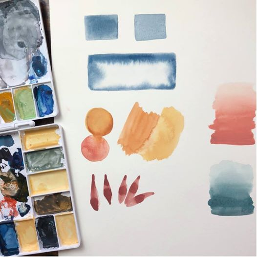 Wed 26 Beginning Watercolor- Technique & Color 630-930pm
