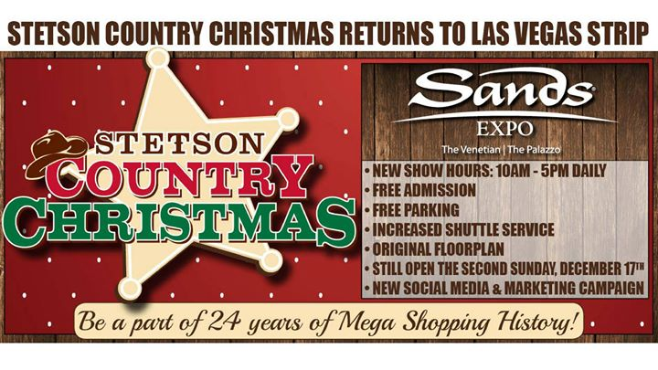 stetson country christmas 2017 booths 759 757 758 at the sands convention ctr las vegas - Country Christmas Las Vegas