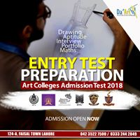 Entry Test Preparation for Art Colleges Admission Test 2018