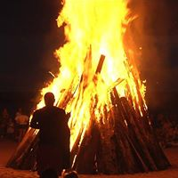 Campfire in Hawrelak Park