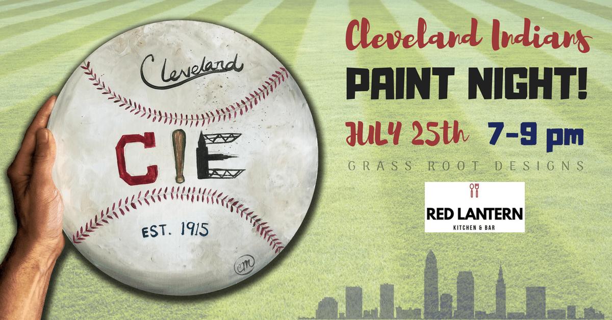 Cle Baseball Paint Night [Red Lantern]