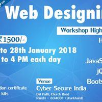 3 days workshop on Web Designing