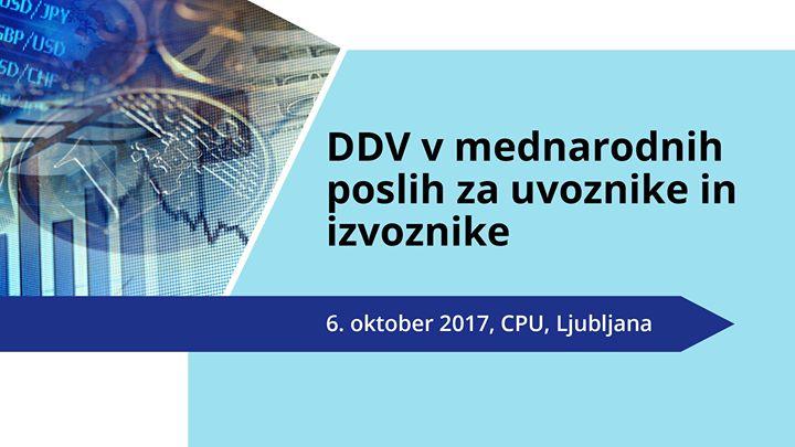 DDV v mednarodnih poslih za uvoznike in izvoznike