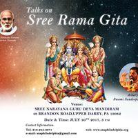 Talks on Sree Rama Gita