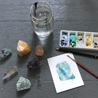 Crystal &amp Mineral Watercolor Workshop with The Grey Birch