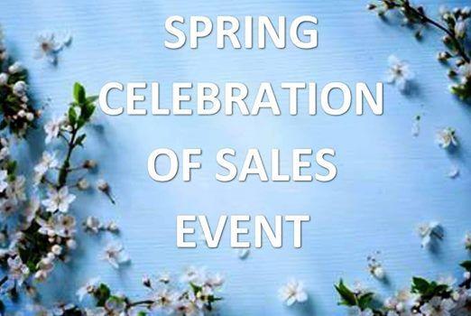 Spring Celebration of Sales Event