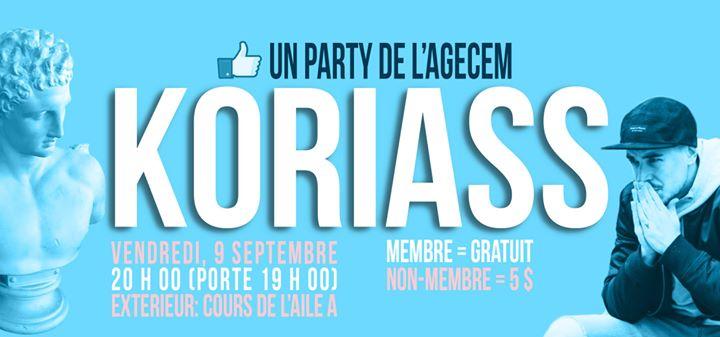 Party de la Rentre Automne 2016  Koriass et DJ 0n1t