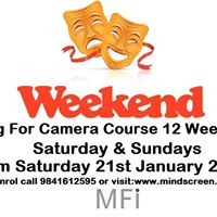 Weekend Acting For Camera Course (12 Weekends) Saturday &amp Sunday