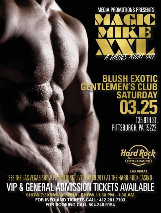 Magic Mike XXL: A Ladies Night Out at Blush Gentlemen's Club ...