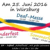 deaf messe mit kinderfest sommerfest in w rzburg at w rzburg mergentheimer stra e 13. Black Bedroom Furniture Sets. Home Design Ideas