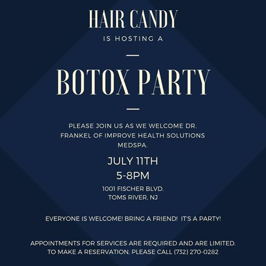 Botox Party at Hair Candy Salon, Toms River