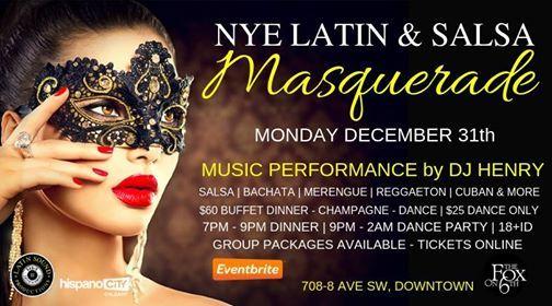 NYE Latin & Salsa Masquerade