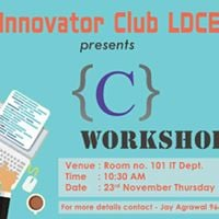 C WORKSHOP BY INNOVATOR CLUB LDCE