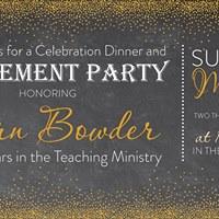 mrs fern bowders retirement celebration at trinity