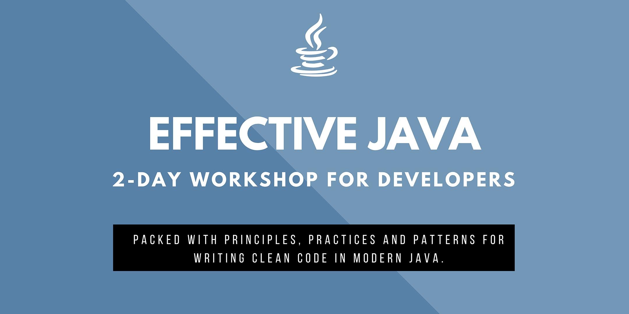 TOP Effective Java 10 for Developers (Antwerpen)