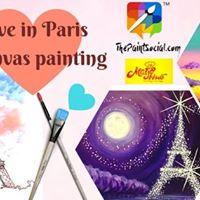 Love in Paris Canvas Painting  Surat