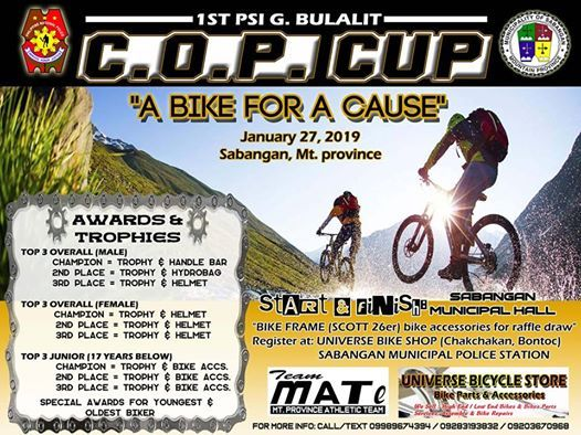 1st Sabangan COP Cup Cross Country Bike For a Cause