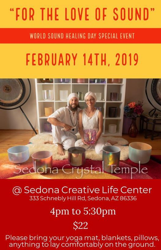For the Love of Sound World Sound Healing Day Special Event
