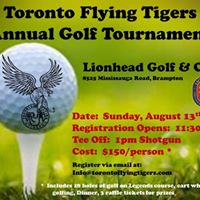 Toronto Flying Tigers Annual Golf Tournament