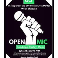 BLM Week of Action Open Mic at WCU