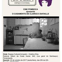 Cine Pomboca apresenta O Casamento de Clarice com Bataille