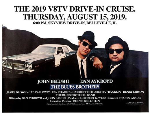 5th Annual V8TV Drive-In Cruise 2019