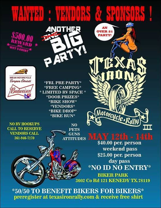 Kenedy Texas Iron Motorcycle Rally At 3602 Co Rd 121