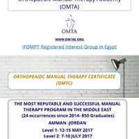 Orthopedic Manual Therapy Certificate (MTTC)