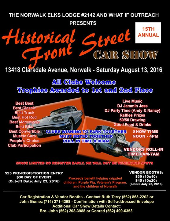Th Annual Historical Front Street Car Show At Clarkdale Ave - Norwalk front street car show 2018