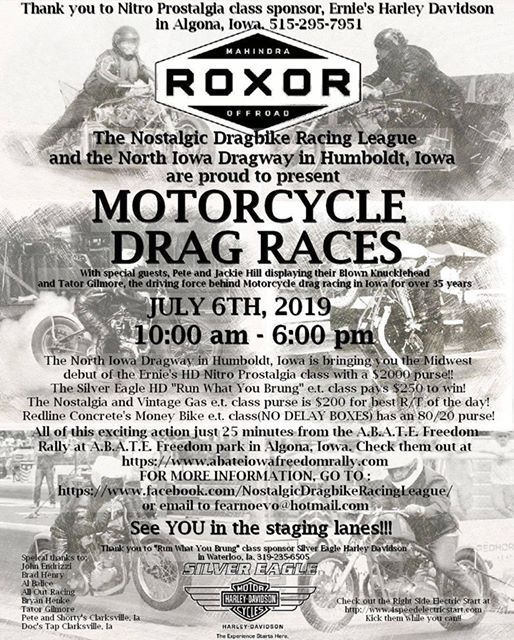 Nostalgic Dragbike Racing League - Music Events in Humboldt