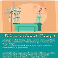 Sciensational Camp Amazing 4 in 1 Robot Camp