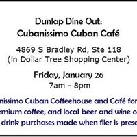 Dunlap Dine Out Cubanissimo Cafe