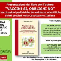Vaccini Si Obblighi No presentazione del libro a Modena