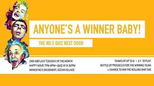 The No 5 Quiz II Happy Hour 6pm-8pm at Mango No 5 Basement