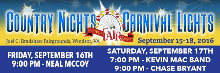 Neal McCoy and Chase Bryant at the Isle of Wight County Fair | Windsor