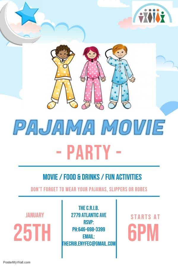 Pajama Family Movie Night