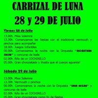 GRANDES FIESTAS EN CARRIZAL 28 Y 29 DE JULIO