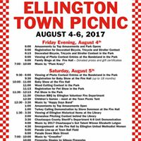 2017 Town Picnic Schedule