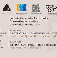 Arheoloki muzej Zadar u Vukovaru - Ispriat u ti priu